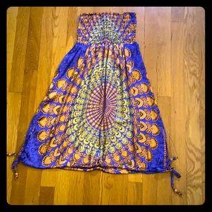 Easter/spring GURU Strapless sundress medium